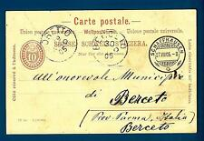 SWITZERLAND - SVIZZERA - 1905 - Cartolina Post. - Da Schaffhausen a Berceto/Parm
