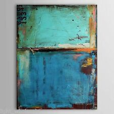 New Abstract Hand painted Oil Paintings Vintage Abstract Blue Color with Number