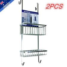 2x New Shower Caddy Rack Chrome Bath Shelf Bathroom Accessories Tier Storage