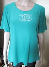 NWT JADE GREEN HIGH END QUALITY SEQUIN TOP SIZE M/L 40'' CHEST