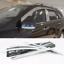 Chrome Window Visor Sun Guard Wind Rain Shield For Chevrolet Captiva 2008~2015