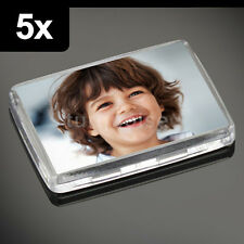 5x Premium Quality Clear Acrylic Blank Photo Fridge Magnets 50 x 35 mm