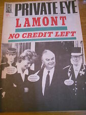 PRIVATE EYE MAGAZINE NUMBER 808 DEC 92 NORMAN LAMONT NO CREDIT LEFT!