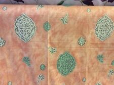 "2.90m JOHN WILMAN ""Creteil"" Saffron Orange Gold Green Cotton Print Fabric"