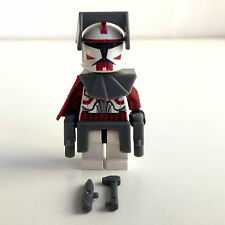 LEGO star wars CLONE COMMANDER FOX + top Equipment & Custom Cape
