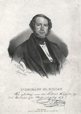 Portrait: Hermann  F. Kilian (Leipzig/Bad Liebenstein). Gynäkologe, Lithographie