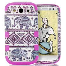 Cute Elephant Soft Silicone + Hybrid Hard Case Cover For Samsung Galaxy S3/ S5
