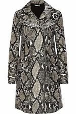 "$645 Diane Von Furstenberg sz 0 (Bust ~ 35"") Sally Animal Python Trench Coat NWT"