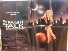 Dolly Parton STRAIGHT TALK(1992) Original UK quad movie poster