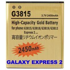 BATTERIA 2450Mah PER SAMSUNG GALAXY EXPRESS 2 SM-G3812 POTENZIATA MAGGIORATA ORO