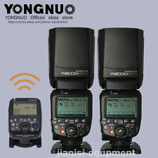 YONGNUO 2PCS YN600EX-RT II Flash speedlite + YNE3-RT Flash Controller for Canon