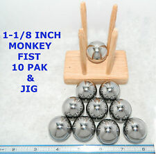 "SPEED PAK 10 Monkey Fist Tactical Core 1-1/8""  Steel Balls & Jig~Made in the USA"