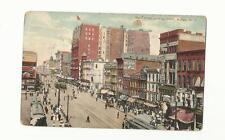 MAIN STREET LOOKING NORTH, BUFFALO NY, 1913, TROLLEY CARS