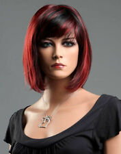 Ladies Short Black Red Blend Wig! Classy Bob Style from Premium VOGUE Wigs UK
