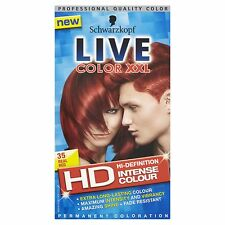 2 X Schwarzkopf Live Color HD XXL Colour Intense Real Red 35