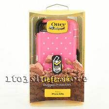 OtterBox Defender Hard Case for iPhone 6 iPhone 6s w/Holster CANDIED DOTS Pink