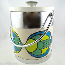"Bucket ice cube VINTAGE ""Fish Seahorse"" Retro Sixties ice Bucket/Ice/60 70s"