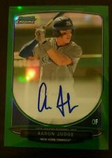 2013 Bowman Chrome Green Refractor Autograph Aaron Judge Yankees #'d 55/75 AUTO