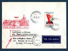 TRIESTE A - Raid Artico Lualdi (1953) su aerogr. affr. con 30° Fiera Padova - MR