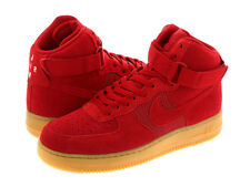 New Mens Nike Air Force 1 High '07 LV8 Shoes 806403-601Gym Red/Gum  Brown sz 14