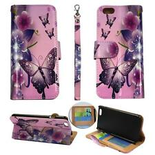For Iphone 6S (4.7) Ck Wallet Pink Flower Butterfly Cover Case Uni Split Leather