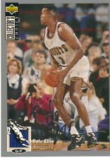 1994-1995 Upper Deck Collector's Choice Card Silver Signature Dale Ellis Nuggets