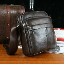 Men's Leather Messenger Shoulder Bag Business Satchel Briefcase Crossbody Bag