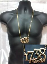 Gold Hip Hop Iced Out 1738 # Zoo Gang Pendant Necklace Chain Remy Boys