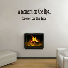 A Moment on the Lips... Weight Loss Motivational Quote UK Wall Sticker