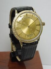 CLASSIC LONGINES GRAND PRIZE AUTOMATIC 352 17j MYSTERY DIAL WATCH 10K GF CASE