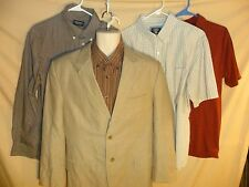 Lot of 5! Men's Calvin Klein Blazer & 4 Shirts long/short Sleeve NICE outfits-LG