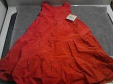 Oshkosh B'gosh Red Dress Holiday Christmas Toddler Girls 4T Cotton Polyester New