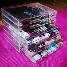 Acrylic Clear Makeup Jewelry Organizer W/Drawers Holder Display 6-Tier Large Box