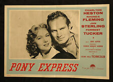 fotobusta cinema PONY EXPRESS ch. heston, r. fleming, j. sterling; JERRY HOPPER