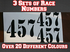 "3 Sets 5""/125mm Motocross MX Race Number Vinyl Sticker Decals Dirt Bike N7"