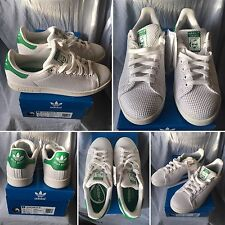 BNWBT ADIDAS  STAN SMITH WEAVE CANVAS WOMEN WHITE GREEN UK 7