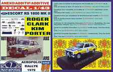 ANEXO DECAL 1/43 FORD ESCORT RS 1800 MK II ROTHMANS R.CLARK ACROPOLIS 1979 (02)