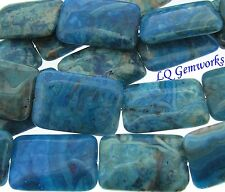 "15"" Str BLUE CRAZY LACE AGATE 20x30mm Rectangle Beads"