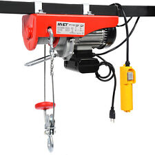 1320 lbs Mini Electric Wire Hoist Remote Control Garage Auto Shop Overhead