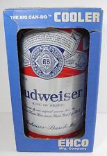 NOS VINTAGE EHCO BUDWEISER THE BIG CAN-DO 6-PACK COOLER STEEL PLATED METAL USA