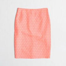 J.CREW NWT Women's Pink Polka Dot Pencil Skirt-  Size 8P- Retails $90