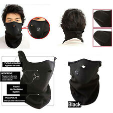 Winter Neoprene Half Face Mask With Filter Cycling Motorcycle Ski Black Mask US