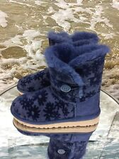 UGG Australia Children Bailey Button Flowers Navy Boot: Size 3