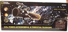 National Geographic NG76AZ Astronomy Land Sky Reflector 525X Power Telescope Map