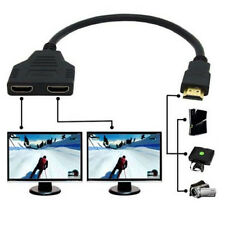 HDMI 1 Male To Dual HDMI 2 Female Y Splitter Adapter HD1080P LED LCD TV TR New