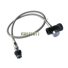 Paintball Stainless Steel Braided Remote Hose with 3000 PSI Gauge w/ QD-New