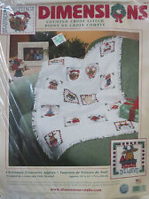 DIMENSIONS VINTAGE 2001 CHRISTMAS AFGHAN COUNTED CROSS STITCH KIT 8658 NEW