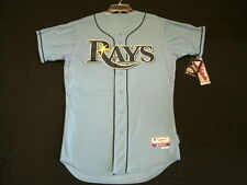 Authentic Majestic SIZE 52 2XL, TAMPA BAY RAYS, BLUE, COOL BASE ON Jersey SHARP!