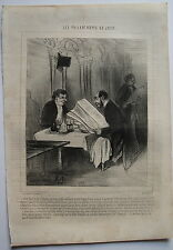 DAUMIER, LITHOGRAPHIE ORIGINALE, CHARIVARI,LES PHILANTROPES  N° 9, TABLOID