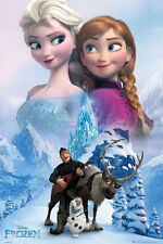 "FROZEN - DISNEY MOVIE POSTER / PRINT (CHARACTERS / COLLAGE) (SIZE: 24"" X 36"")"